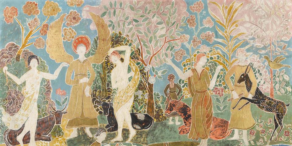 Charles E. Prendergast (1863-1948) Fantasy 23 x 31in (Executed circa 1916-18.)