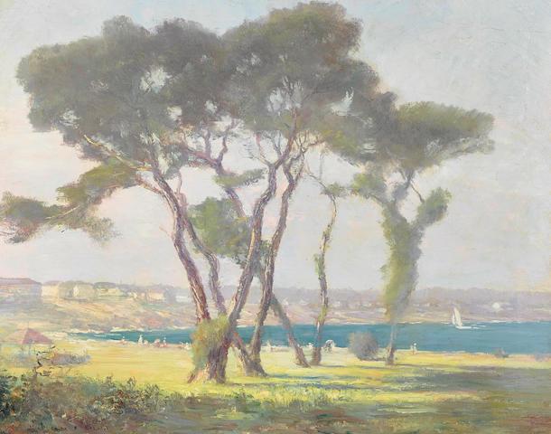 William Posey Silva (1859-1948) Coastal Scene 27 x 34in