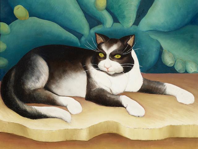 Henrietta Shore (1880-1963) My Cat 26 1/4 x 26 1/4in (Painted circa 1930-1935.)