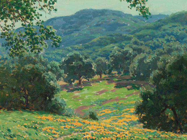 Granville Redmond (1871-1935) Wildflowers in bloom 12 x 16 1/8in