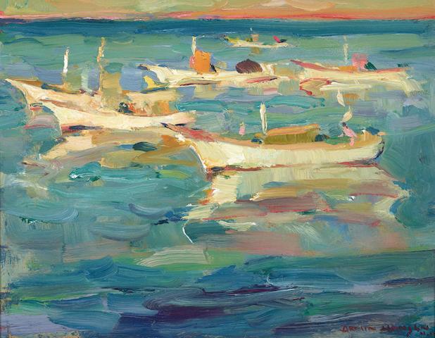 Armin Carl Hansen (1886-1957) At Rest 10 x 13in