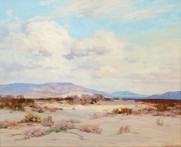 John Frost (1890-1937) Desert Clouds 30 1/4 x 38in (Painted circa 1925-1930.)