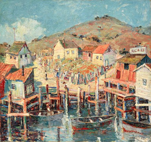 Selden Connor Gile (1877-1947) Quiet Cove (Belvedere) 28 x 30in (Painted in 1932.)
