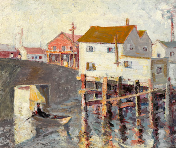 Selden Connor Gile (1877-1947) Belvedere bridge 13 3/4 x 18in (Painted circa 1928.)