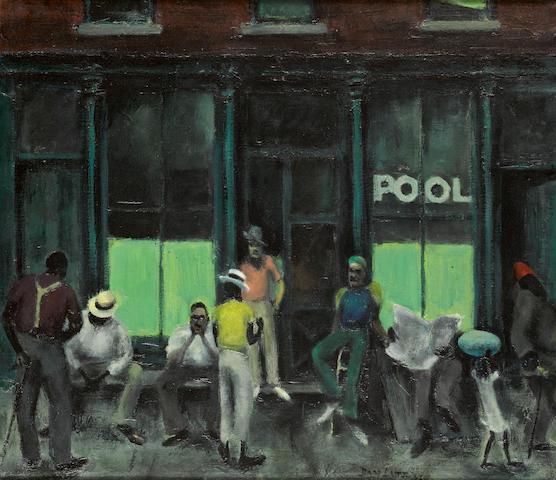 Dan Lutz (1906-1978) Street scene 26 x 30in (Painted in 1938.)