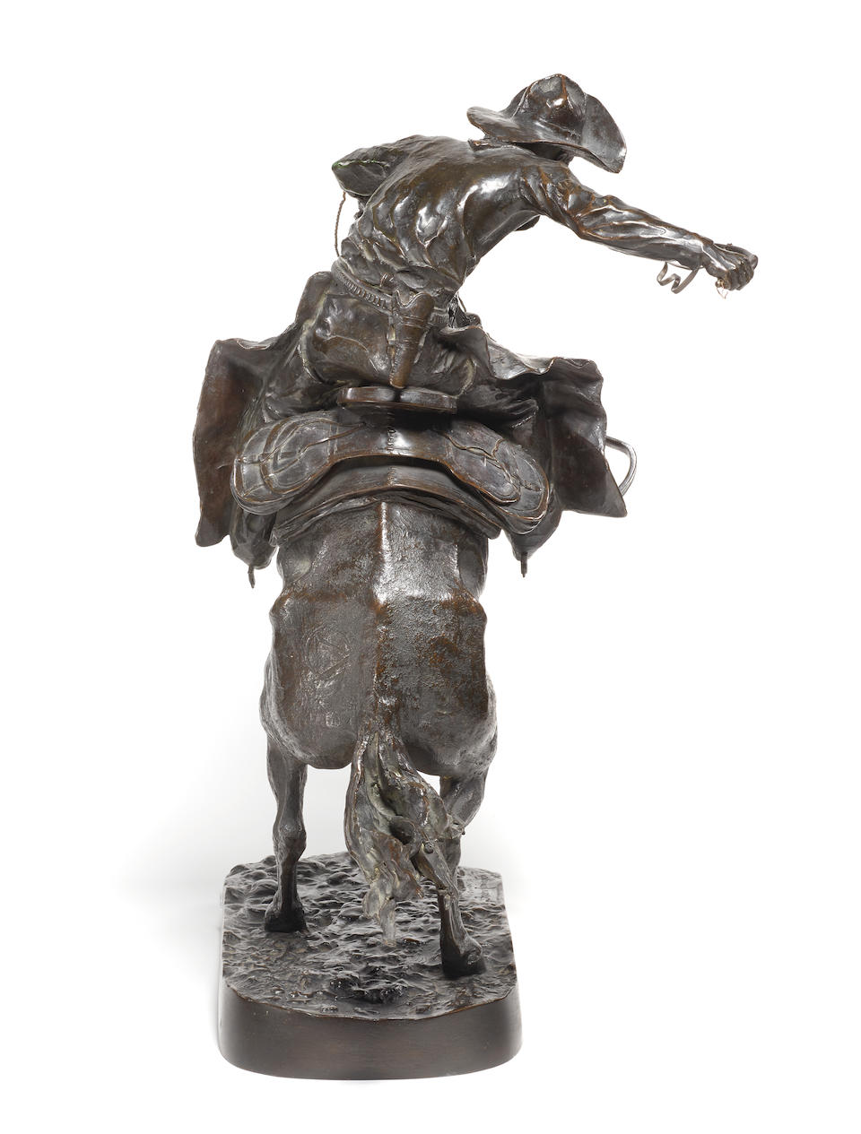 Frederic Remington (1861-1909) The Broncho Buster 22 1/2in high  (Modeled in 1895, cast circa 1911.)