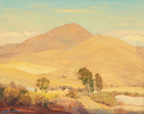 Alfred R. Mitchell (1888-1972) Summer Hills 16 x 20in