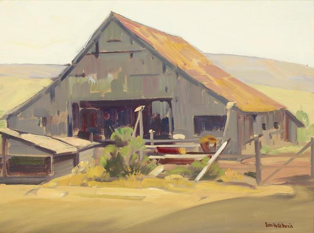 Sam Hyde Harris (1889-1977) Weathered (Barn) 18 x 24in