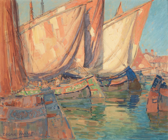 Edgar Payne (1883-1947) Chioggia Boats 18 x 22in