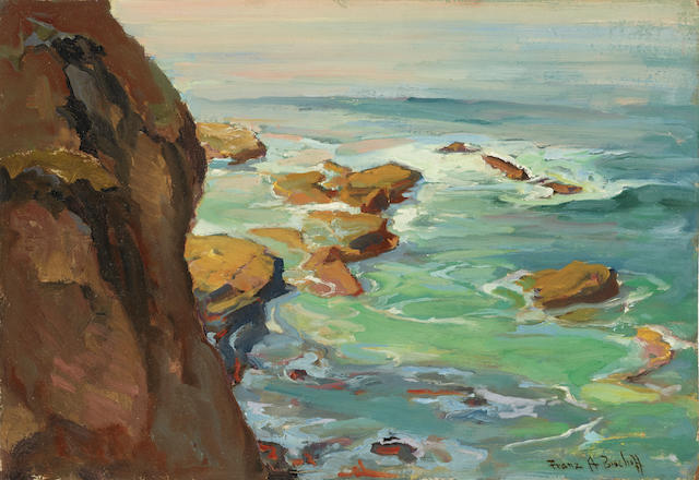 Franz Arthur Bischoff (1864-1929) Laguna Tide Pools 13 x 19in