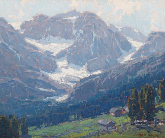 Edgar Payne (1883-1947) Alpine scene - Switzerland 20 x 24in