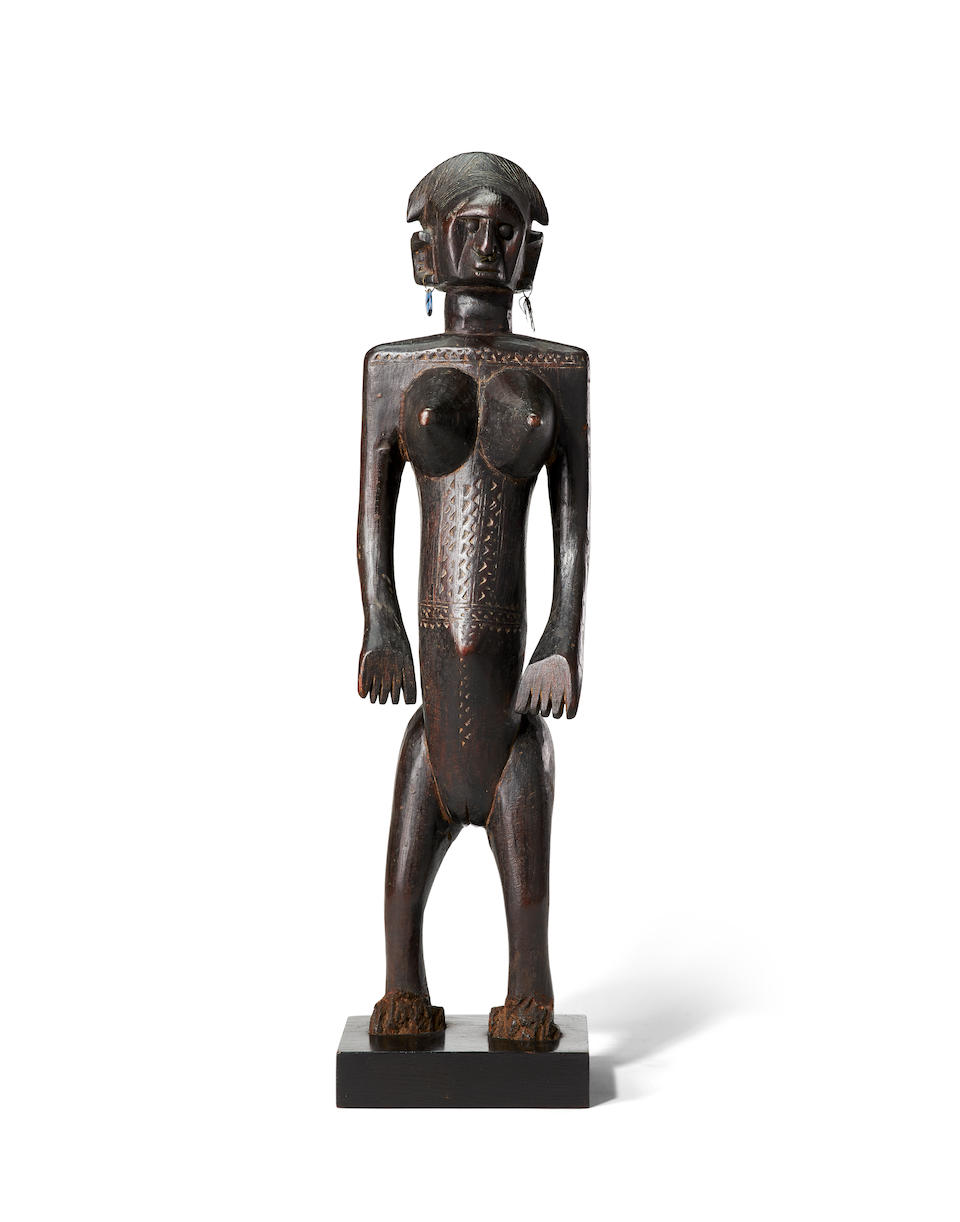 Exquisite Bamana Standing Female Figure, Mali