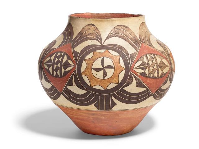 An Acoma/Laguna polychrome jar