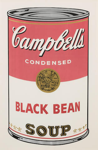 Andy Warhol (1928-1987); Black Bean Soup, from Campbell's Soup I;