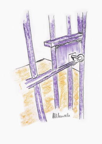 Nelson Rolihlahla Mandela (South African, 1918-2013) The Cell Door, Robben Island
