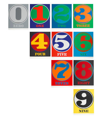 Robert Indiana (1928-2018); Numbers; (10)