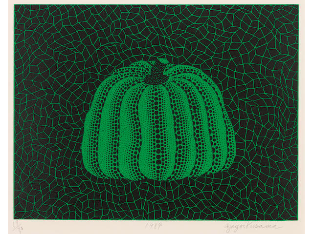 Yayoi Kusama (born 1929); Pumpkin: Green;