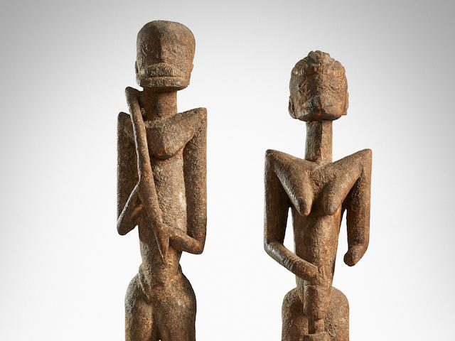 Superb and Rare Dogon or Tellem Couple, Mali