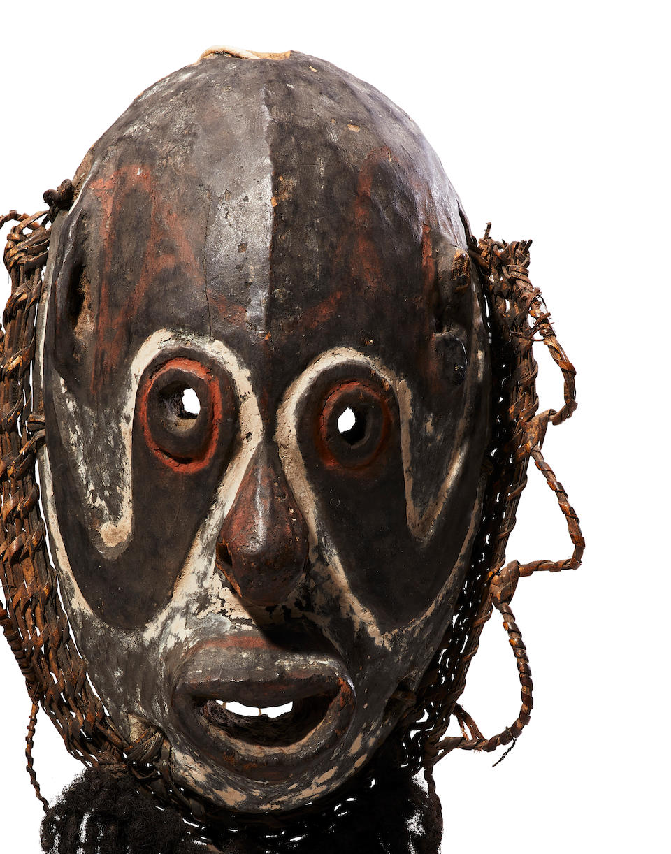 Exceptional and Rare Biwat Mask, Yuat River Region, Lower Sepik, Papua New Guinea