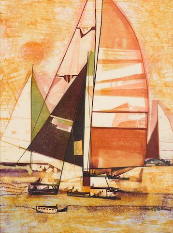 Seah Kim Joo (Singaporean, b. 1939)  Sail Boats