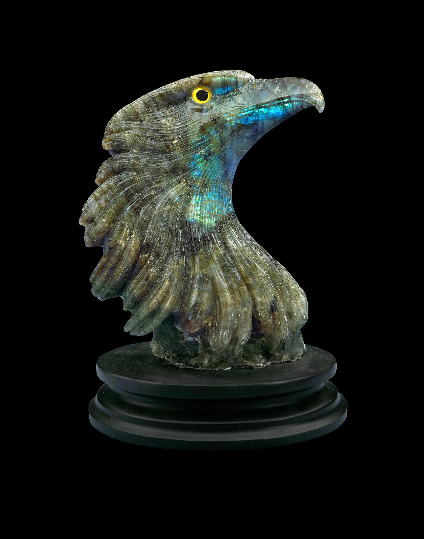 Labradorite Carving of an Eagle's Head