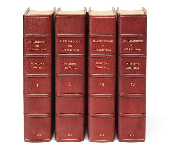 CHURCHILL, WINSTON SPENCER. 1874-1965. Marlborough: His Life and Times. London: George G. Harrap, [1933-36].