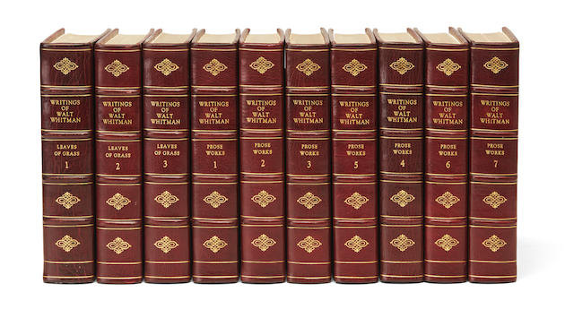 WHITMAN, WALT. 1819-1892. The Complete Writings of Walt Whitman. New York: G.P. Putnam's Sons, 1902.