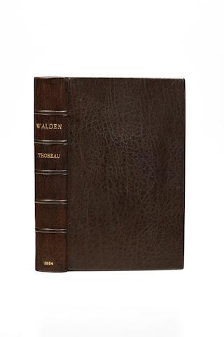 THOREAU, HENRY DAVID. 1817-1862.  Walden, or Life in the Woods. Boston: Ticknor & Fields, 1854.