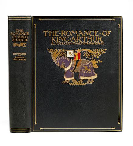 RACKHAM, ARTHUR. 1867-1939.  MALORY, THOMAS. 1415-1471. The Romance of King Arthur and His Knights of the Round Table. London: Macmillan & Company, 1917.