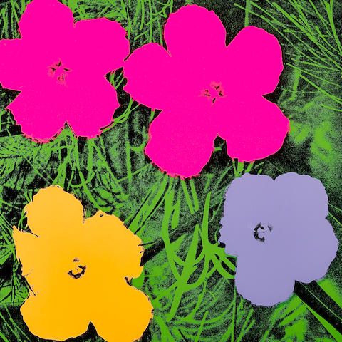 Andy Warhol (1928-1987); Flowers; (4 works)