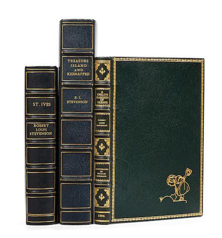 STEVENSON, ROBERT LOUIS. 1850-1894. 3 titles:  1. St. Ives. London: William Heinemann, 1898.