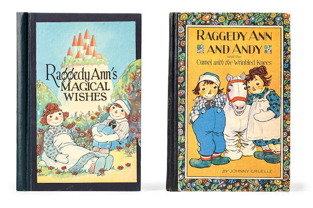 GRUELLE, JUSTIN C. 1889-1978. 2 titles: 1. Raggedy Ann and Andy and the Camel with the Wrinkled Knees. Joliet, IL: P.F. Volland Company, 1924.