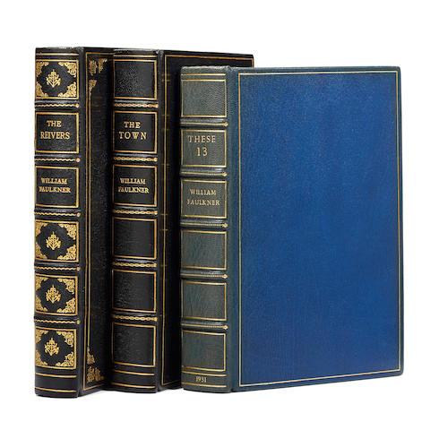 FAULKNER, WILLIAM. 1897-1962. 3 titles: