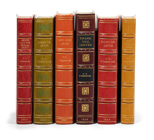 WODEHOUSE, P.G. 1881-1975. 6 Jeeves titles: 1. Carry On, Jeeves. London: Herbert Jenkins, 1925.
