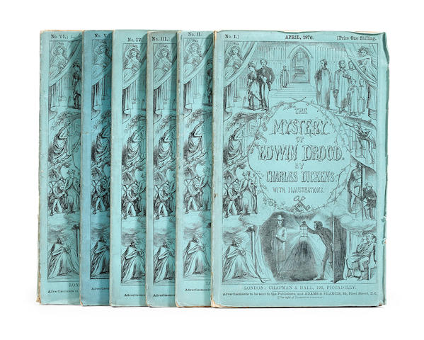 DICKENS, CHARLES. 1812-1870. The Mystery of Edwin Drood. London: Chapman and Hall, 1870.