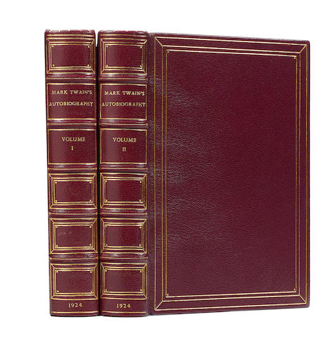 CLEMENS, SAMUEL LANGHORNE. 1835-1910. Mark Twain's Autobiography. New York: Harper & Brothers, 1924.
