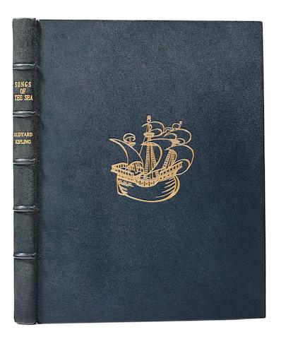 KIPLING, RUDYARD. 1865-1936. MAXWELL, DONALD, illustrator. Songs of the Sea From Rudyard Kipling's Verse. London: Macmillan & Company, 1927.