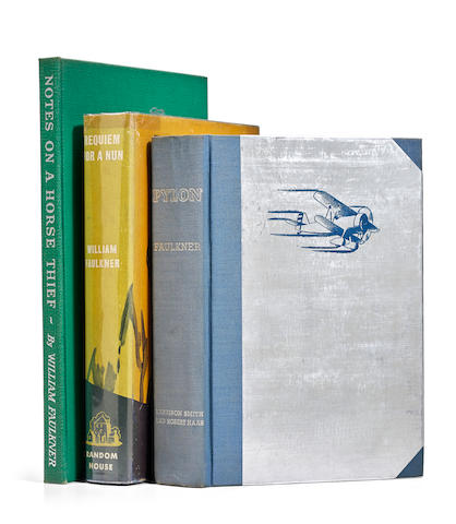 FAULKNER, WILLIAM. 1897-1962. 3 signed and limited first editions: