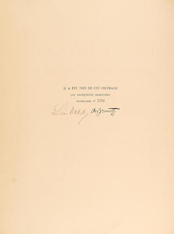 BAKST, LEON. 1866-1924. L'Oeuvre de Leon Bakst pour la belle au bois dormant. Ballet en cinq actes d'apres le conte de Perrault. Musique de Tchaikovsky.  Paris: de Brunoff, 1922.