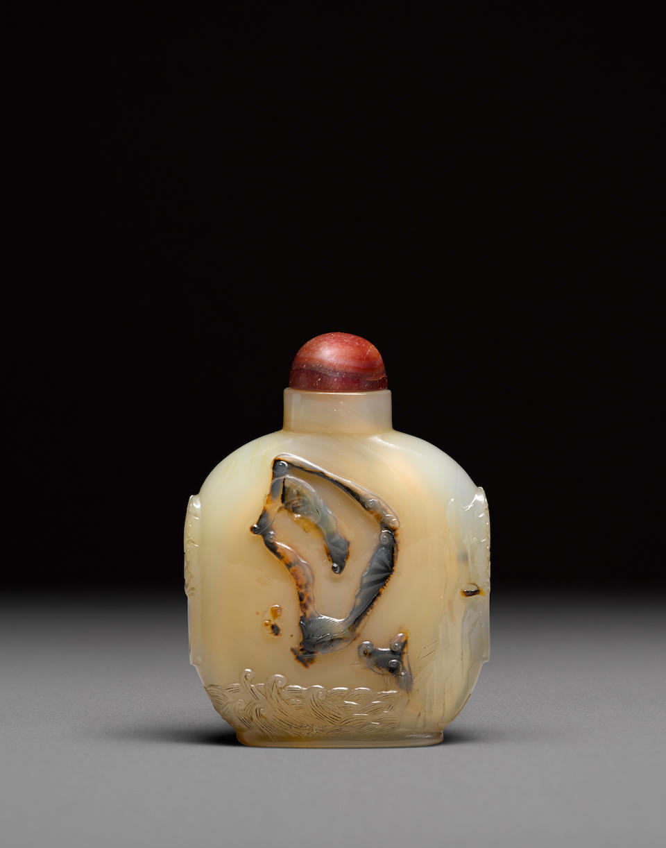A large agate cabinet bottle Early 20th century