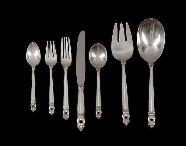 An American sterling Silver Partial Sterling Silver Flatware Serviceby International Silver Co., 20th century