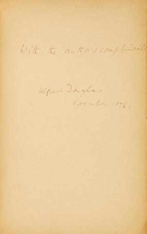 Douglas, Lord Alfred. 1870-1945. Poems. Paris: published by the Mercure de France, 1896.