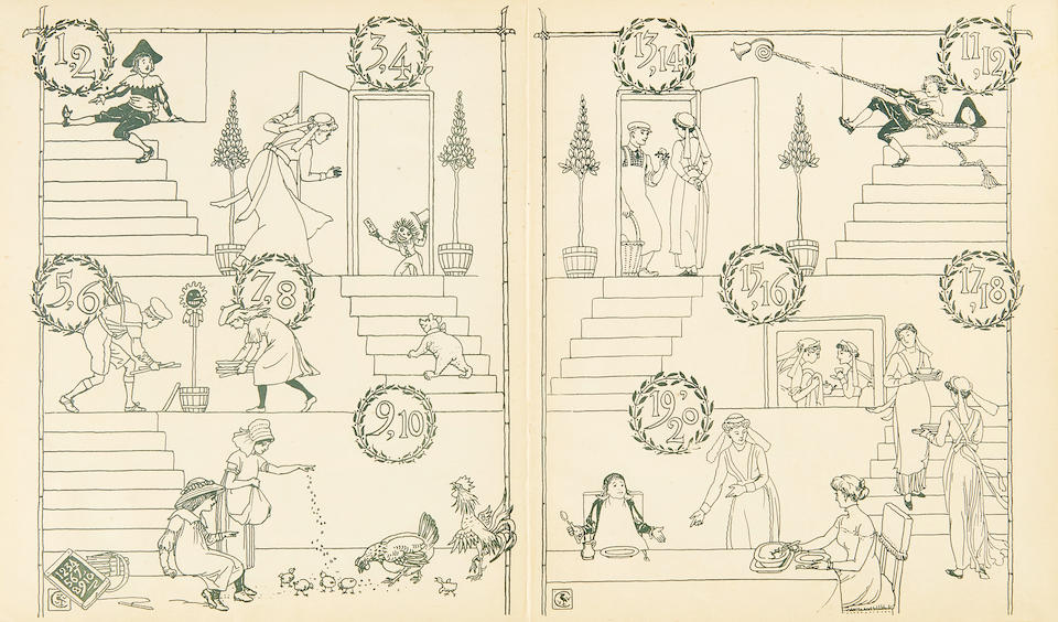 CRANE, WALTER. 1845-1915. A collection of 27 Walter Crane Picture Books, Large Series,