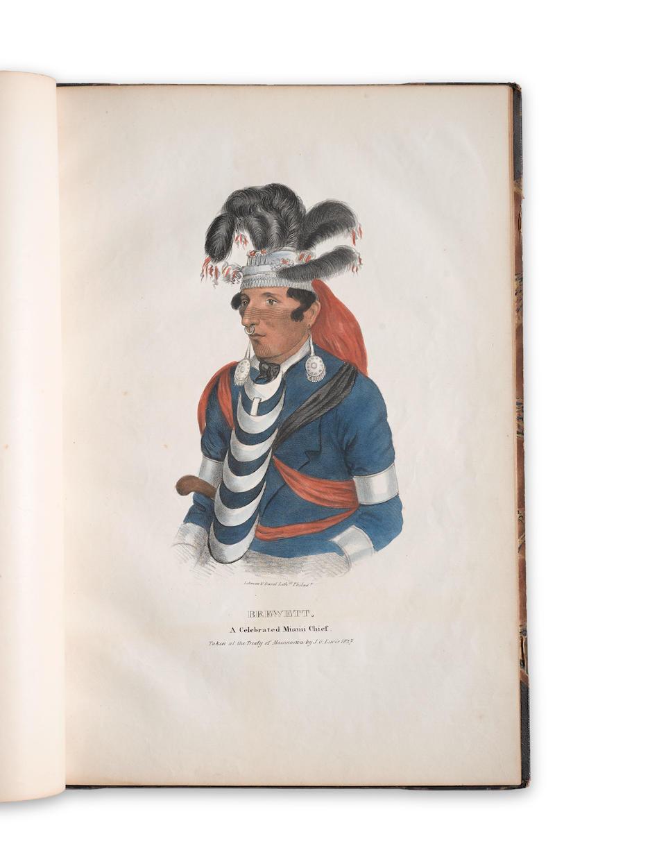 LEWIS, JAMES OTTO. 1799-1858. The Aboriginal Port Folio. Philadelphia: the author, October 1835.