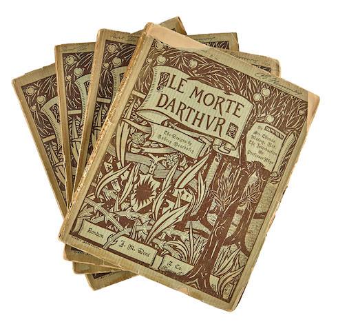 BEARDSLEY, AUBREY VINCENT. 1872-1898. Malory, Thomas, Sir. fl 1470.  Le Morte D'Arthur. London: J.M. Dent & Co, 1893-94.