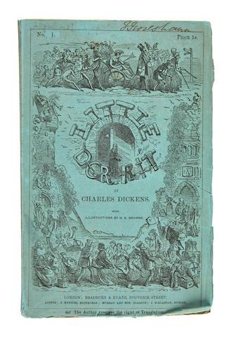 DICKENS, CHARLES. 1812-1870. Little Dorrit. London: Bradbury & Evans, December 1855–June 1857.