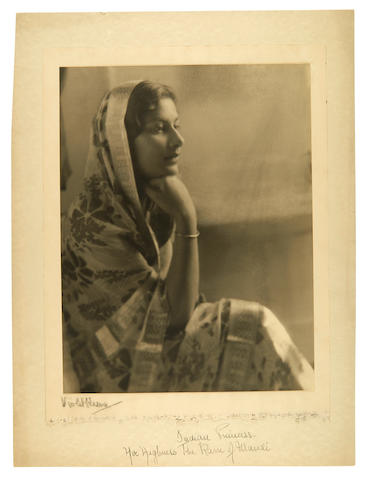 Perinchief, Violet Keene. 1893-1967. Original photograph, Indian Princess. Her Highness the Rani of Mandi,
