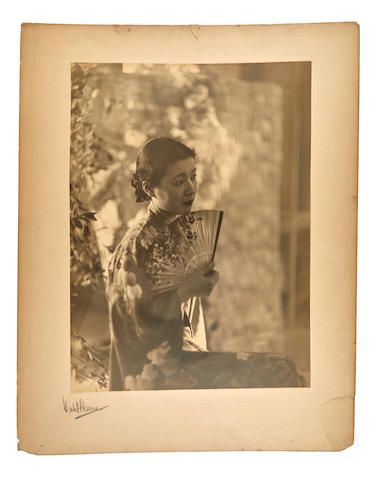 Perinchief, Violet Keene. 1893-1967. Original photograph, Eastern Beauty. A portrait of a Chinese Lady,