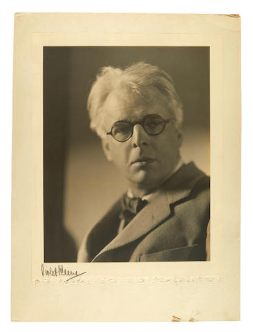 Perinchief, Violet Keene. 1893-1967. Original portrait photograph, William Butler Yeats,