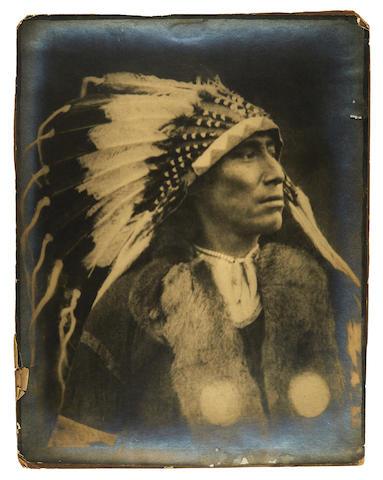 Keene, Minna. 1861-1943. Original photograph, Untitled [Canadian Indian Chief],